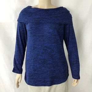 Soma Melange Off the Shoulder Tunic Size XL Blue